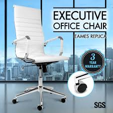 Executive Computer Chair Design Ideas Eames Replica High Back Office Chair Executive Computer Pu Leather