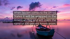 American Flag Sunset Sinclair Lewis Quote U201cwhen Fascism Comes To The United States It