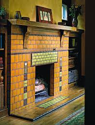 craftsman oak poppy fireplace motawi tileworks home decor