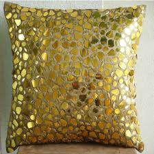Sofa Pillows Covers by Luxury Gold Cushion Covers 16x16 Silk Pillows