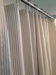Navy And Coral Shower Curtain Ticking Stripe Shower Curtain Black Brown Grey Navy Blue