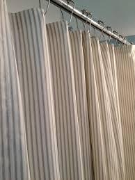 Blue Ticking Curtains Ticking Stripe Shower Curtain Black Brown Grey Navy Blue
