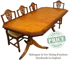 Yew Dining Table And Chairs Reproduction Dining Tables In Yew And Mahogany Enfield