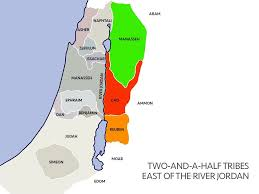 Jordan River Map Free Bible Images When The Tribes East Of The River Jordan Build