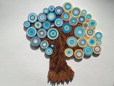 Tree wall hanging Nature home decor Paper wall decoration 3D paper