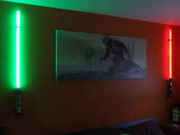 Lightsaber Bedroom Light Light Sabers And Painted Canvas Home Decor Pinterest Light