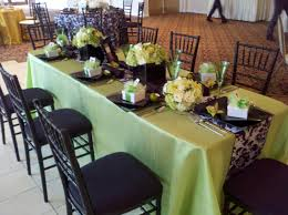 black u0026 white damask table runner with lime green accents and