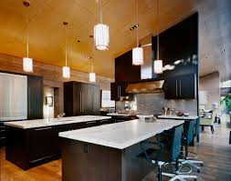 kitchen island breakfast bar lighting imposing contemporary
