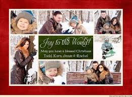 multi photo christian christmas card photos joy family 2017