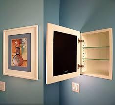 Recessed Bathroom Medicine Cabinets Amazon Com 13x16 White Concealed Cabinet Regular A Recessed