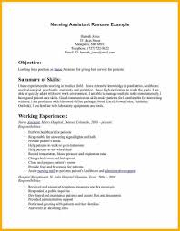 Rn Objective For Resume Example Cna Resume Cna Resume Sample Certified Nursing Assistant
