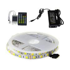 smd 5050 led strip light temperature dual white color one led dc