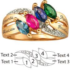 gold mothers rings lustre s ring 14kt yellow gold with 4 genuine birthstones