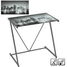 bureau verre et metal bureau city en verre et métal yesdeko com