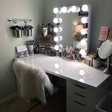 Bedroom Vanity Lights Makeup Vanity Table With Lighted Mirror Uk Modern Lights Bedroom