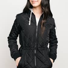 element thumper long puffer jacket flint black called to surf