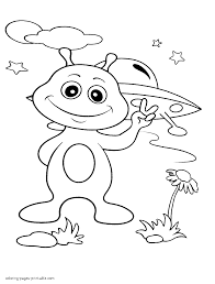 alien at earth coloring pages