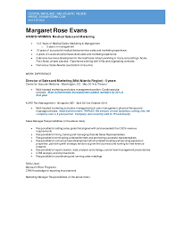 Sale And Marketing Resume Sales And Marketing Resume