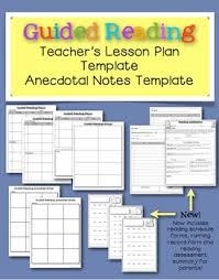 guided reading lesson plan u0026 notes templates for teachers by lisa