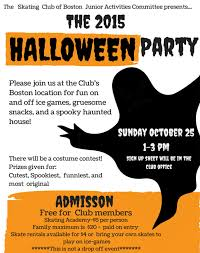 office party flyer join the jac at the annual halloween party the skating club of