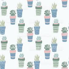 Cute Succulent Pots Cute Hand Drawn Terrariums Houseplants And Succulents In Pots