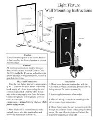 Electric Wall Sconces Electric Wall Sconce Assembly Installation Guide