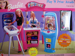 amazon com barbie game center play u0027n prize arcade playset w