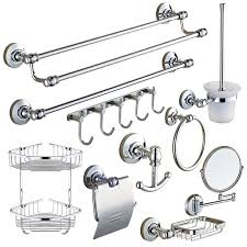 Silver Bathroom Accessories Sets Aliexpress Com Buy Silver Polished Chrome Brass Bathroom