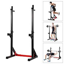 Academy Sports Bench Press Ollieroo Multi Function Barbell Rack Dip Stand Gym Family Fitness