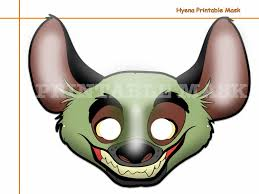 Halloween Costumes And Props Unique Hyena Printable Mask Costumes Party Booth Props