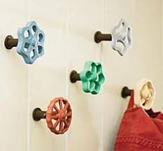 Laundry Room Hangers - love this idea a great combination of rustic and playfull boys