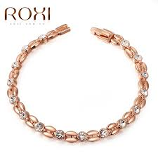rose gold color bracelet images Roxi bracelets bangle for women genuine austrian crystals jpg