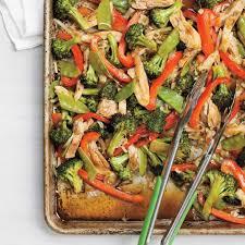 cuisine recette poulet poulet asiatique sur une plaque ricardo