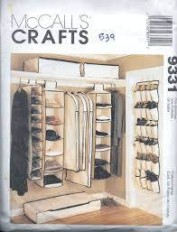 mccall u0027s 9331 crafts hanging closet organizers sewing pattern