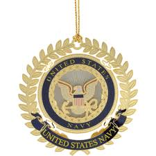 chemart u s navy logo ornament ornaments toppers home