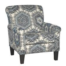 Blue And White Accent Chair Casual Contemporary Indigo Blue White Accent Chair Bellamy