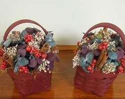 flower basket decorative flower basket dried flowers farmhouse
