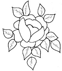 roses coloring pages of flowers and roses