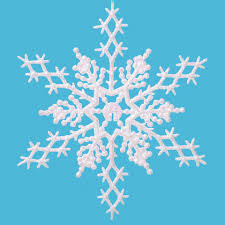 glitter snowflake ornaments 6 5 inch pearlized white snowflakes