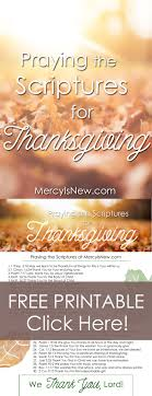 praying scriptures of thanksgiving his mercy is new