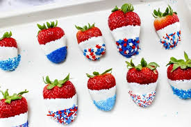 Easy Chocolate Covered Strawberries I Patriotic Chocolate Covered Strawberries Princess Pinky