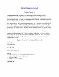 Ballet Resume Cover Letter Dance Resume For College Dance Resume Template For