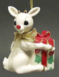 lenox china whimsical rudolph ornament mint
