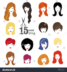 hairstyle silhouettewomangirlfemale hairfacebeauty vectorflat