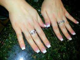 white french tips acrylic nails google search beauty