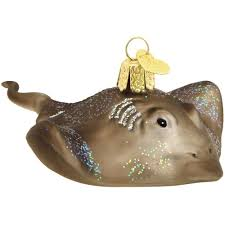 stingray glass ornament old world christmas ornaments
