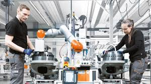 human robot collaboration in robot assembly kuka ag