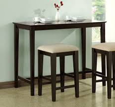 small tall kitchen table counter height desk would be better with shelving at one end for