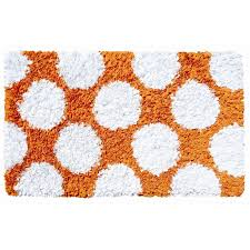 Orange Area Rug With White Swirls Orange White Rug Roselawnlutheran