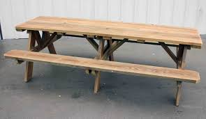Picnic Table Plans Free Separate Benches by 8 Foot Picnic Table With Detached Benches Bench Decoration